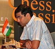 Actual campeón mundial Viswanathan Anand.