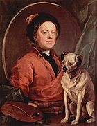 William Hogarth und sein Mops        Quelle:Wikipedia