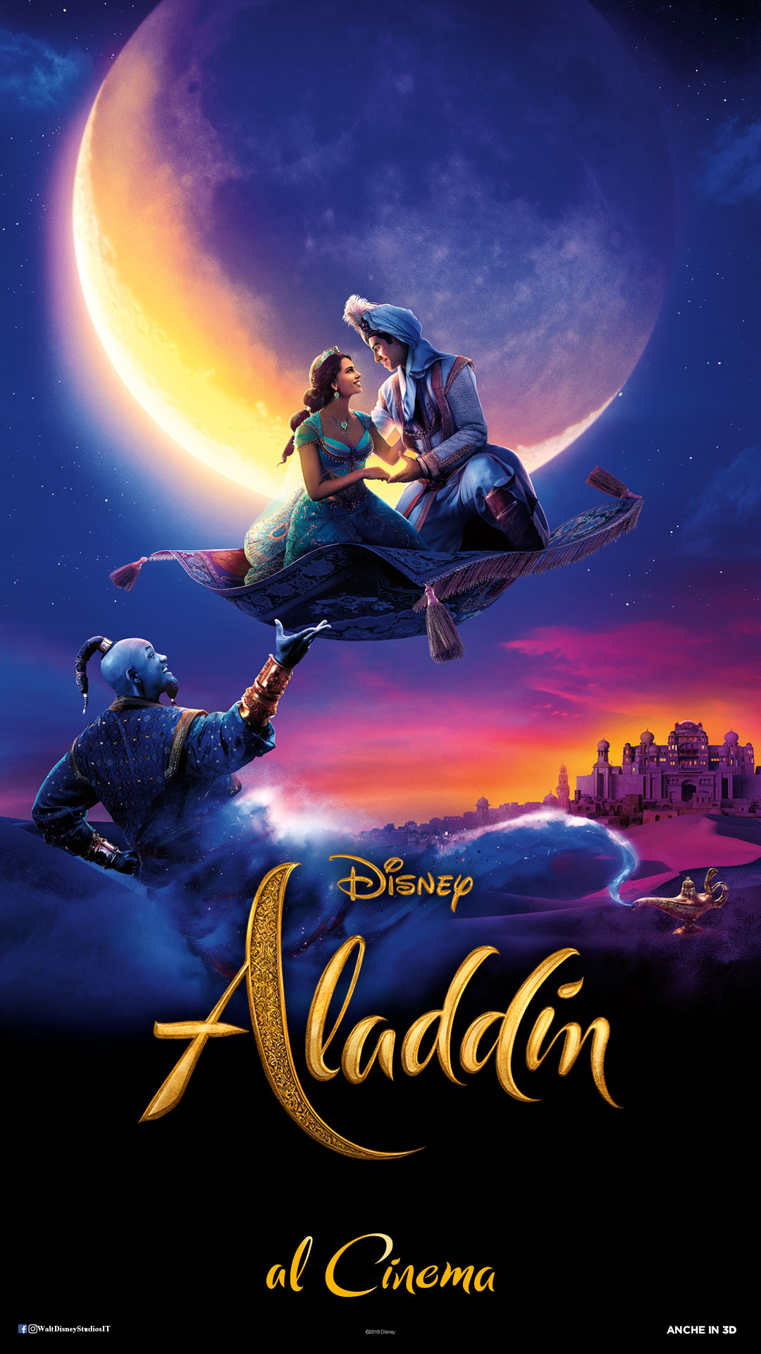 ALADDIN lunedì 1, mercoledì 3, domenica 7: ore 21:15 sabato 6: ore 18:30 #Aladdin