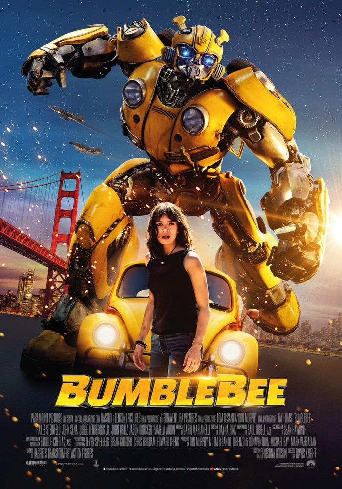 BUMBLEBEE mercoledì 26, venerdì 28, domenica 30, martedì 1: ore 16,30 giovedì 27, sabato 29, lunedì 31: ore 18,30 #Bumblebee