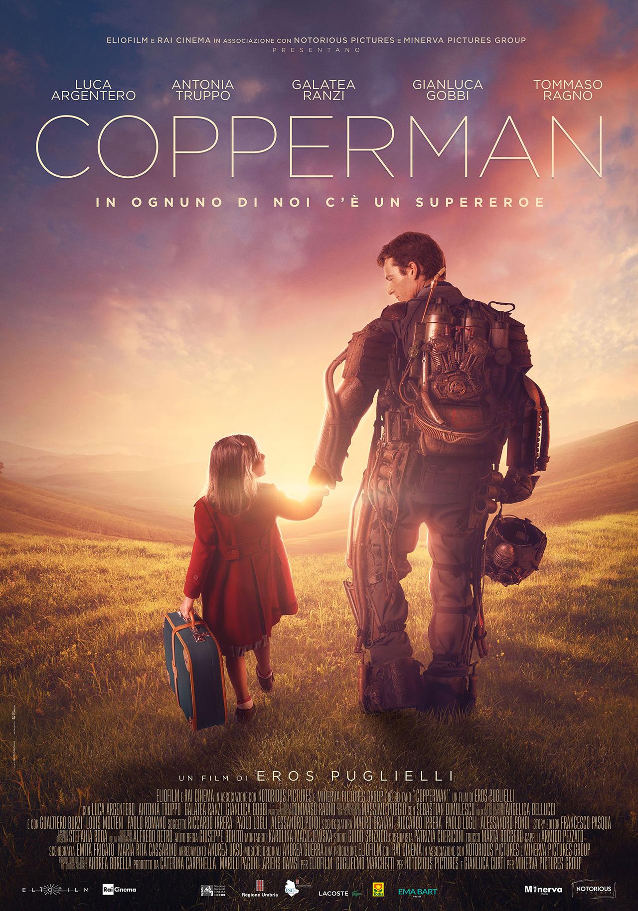 COPPERMAN giovedì 14 e venerdì 15: ore 21,15 sabato 16 e domenica 17: ore 18,30 – 21,15 #Copperman