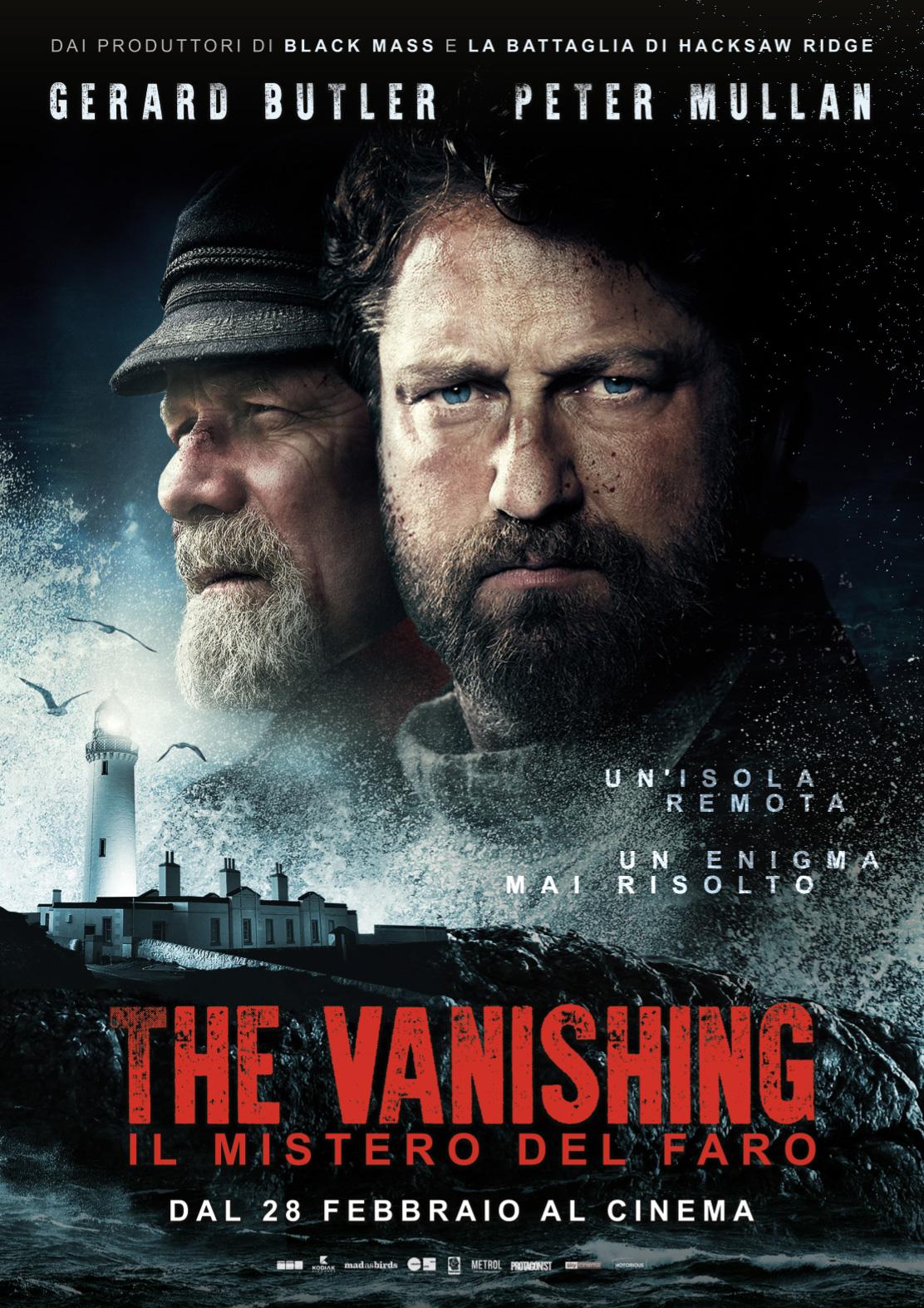 THE VANISHING – IL MISTERO DEL FARO giovedì 28 e venerdì 1: ore 21,15 sabato 2 e domenica 3: ore 18,30 – 21,15 #TheVanishing – Il Mistero del Faro
