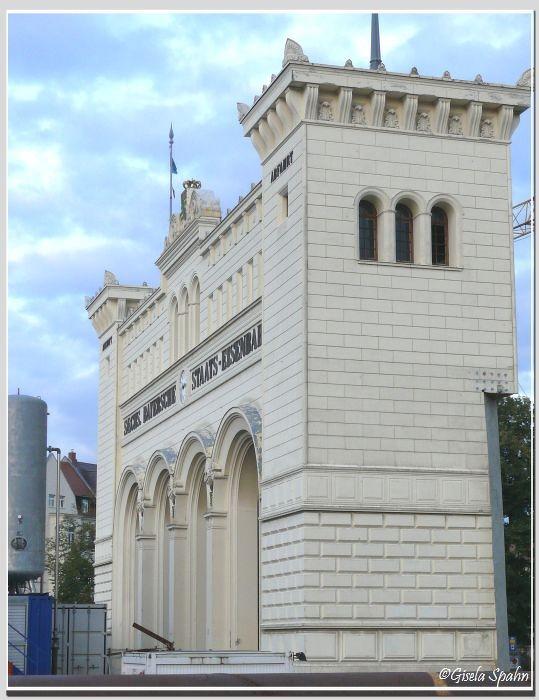 Der Bayrische Bahnhof, erbaut 1840-44 von e. Pötsch