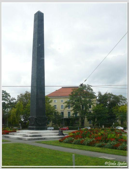 Der Obelisk am Karolinenplatz