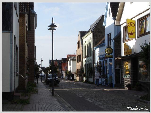 Die Dorfstraße in Maasholm