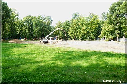 Baustelle neue Giraffenanlage