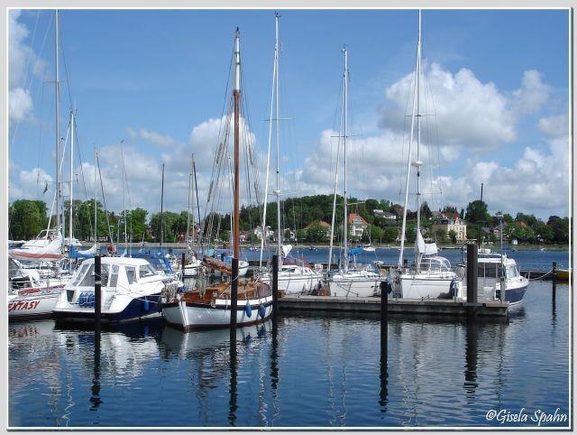 Der Yachthafen von Eckernförde