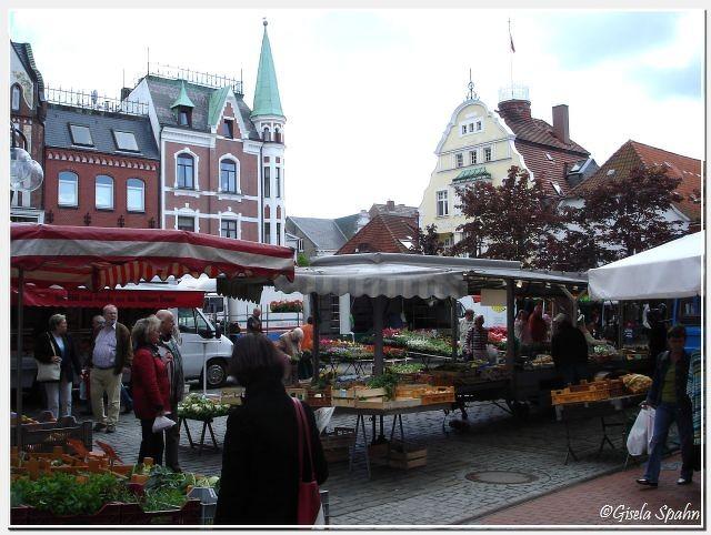 Der Markt in Eckernförde