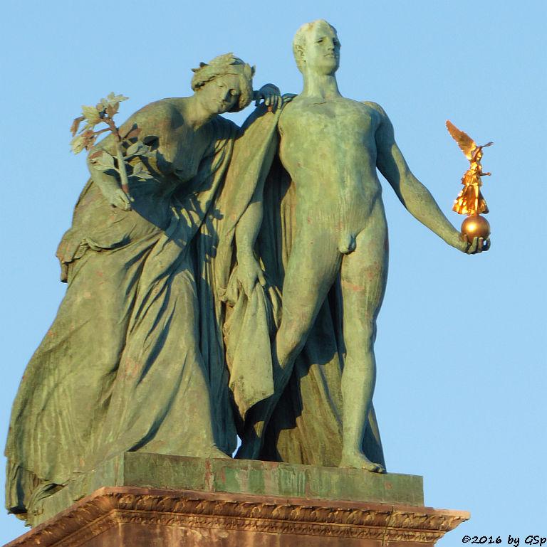 Bronzefigur für Ruhm und Wissenschaft