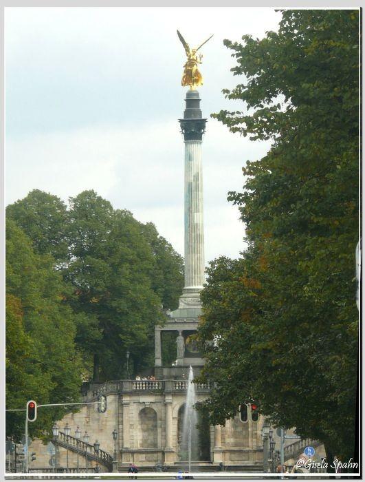 Der Friedensengel in der Prinzregentenstraße