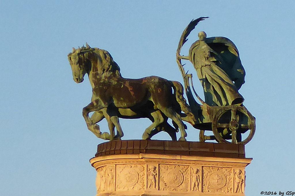 Bronzefigur für Frieden