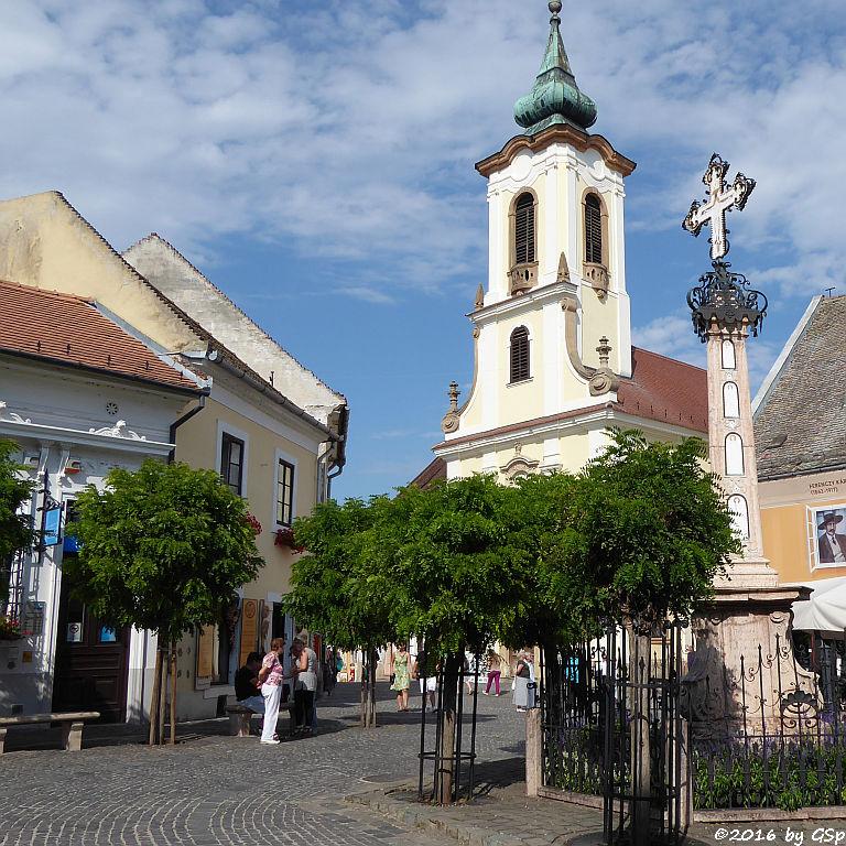 Serbisch-orthodoxe Mariä-Verkündigungskirche (Blagovesztenszka Kirche), Pestsäule