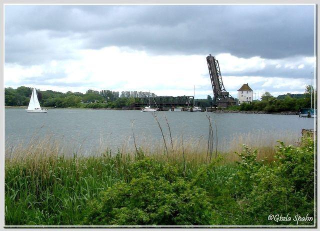 Die Klappbrücke in Lindaunis
