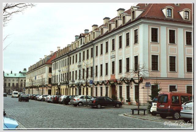 Innere Neustadt - Dresdner Bürgerhäuser aus dem 18. Jhdt.  (Königstr.)