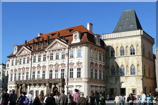 Altstädter Ring - Palais Kinský und 'Haus zur steinernen Glocke'