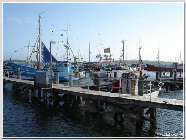 Der Hafen von Maasholm (hier verkaufte Kalle Opdehn seine Fische direkt vom Kutter)