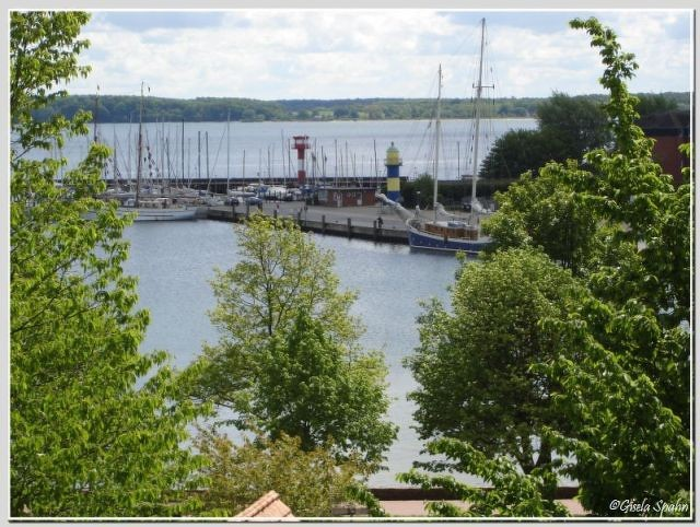 Eckernförde-Borby: Blick auf den Hafen