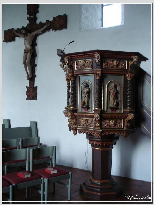 In der Nikolaikirche in Eckernförde: Die Kanzel