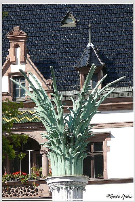 Palmsäule, den Säulen in der NIkolaikirche nachgebaut