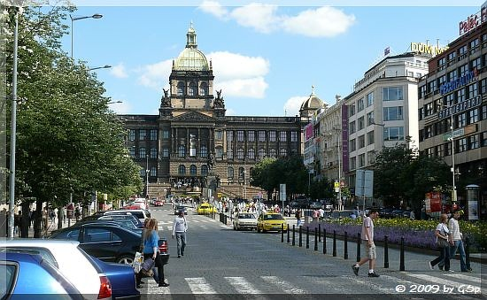 Wenzelsplatz mit Nationalmuseum