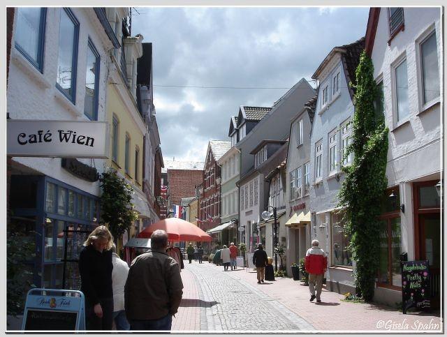 Die Fußgängerzone in Eckernförde