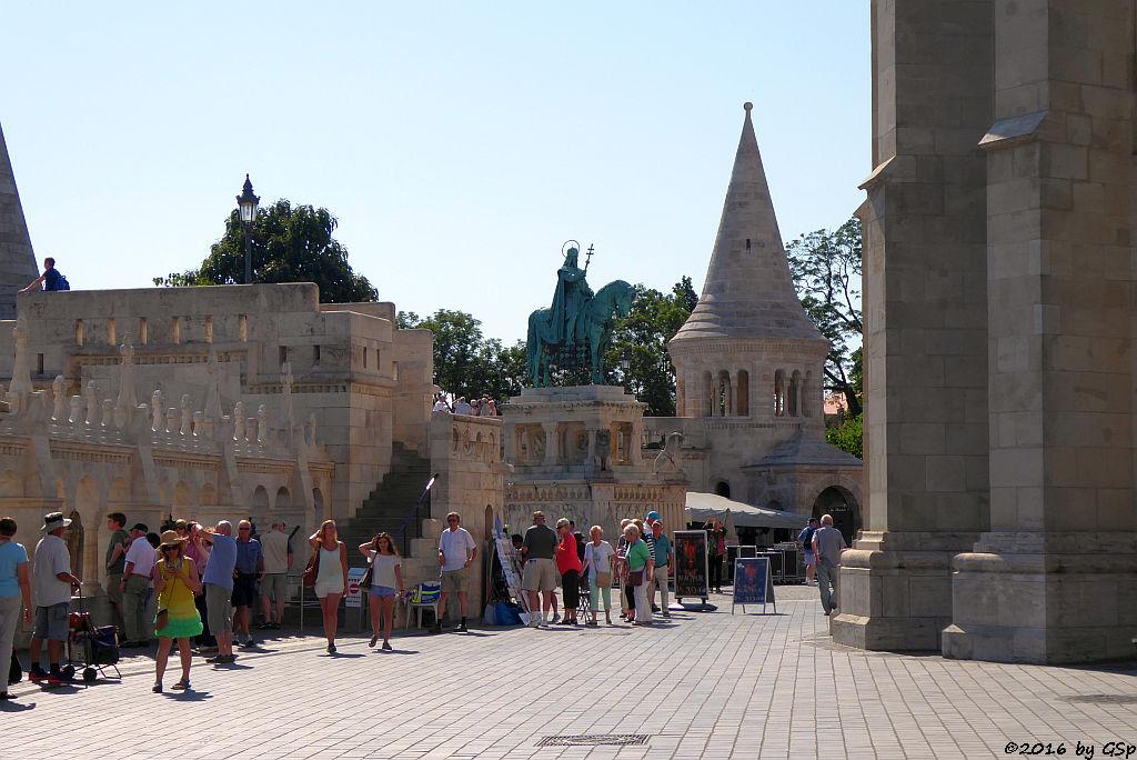 Fischerbastei mit Reiterdenkmal des Königs Stephan I.