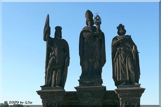 Statue des Heiligen Wenzel, Heiligen Norbert und Heiligen Sigismundauf der Karlsbrücke