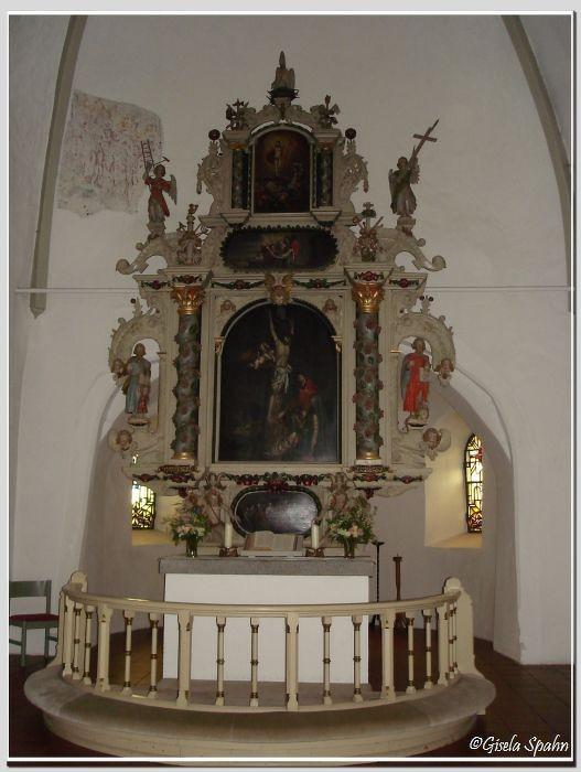 In der Nikolaikirche in Eckernförde: Der Altar