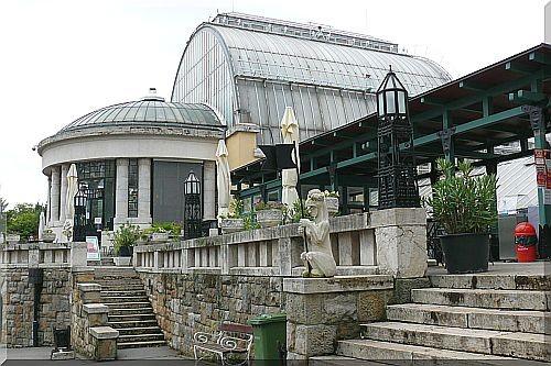 Palmenhaus und Aquarium