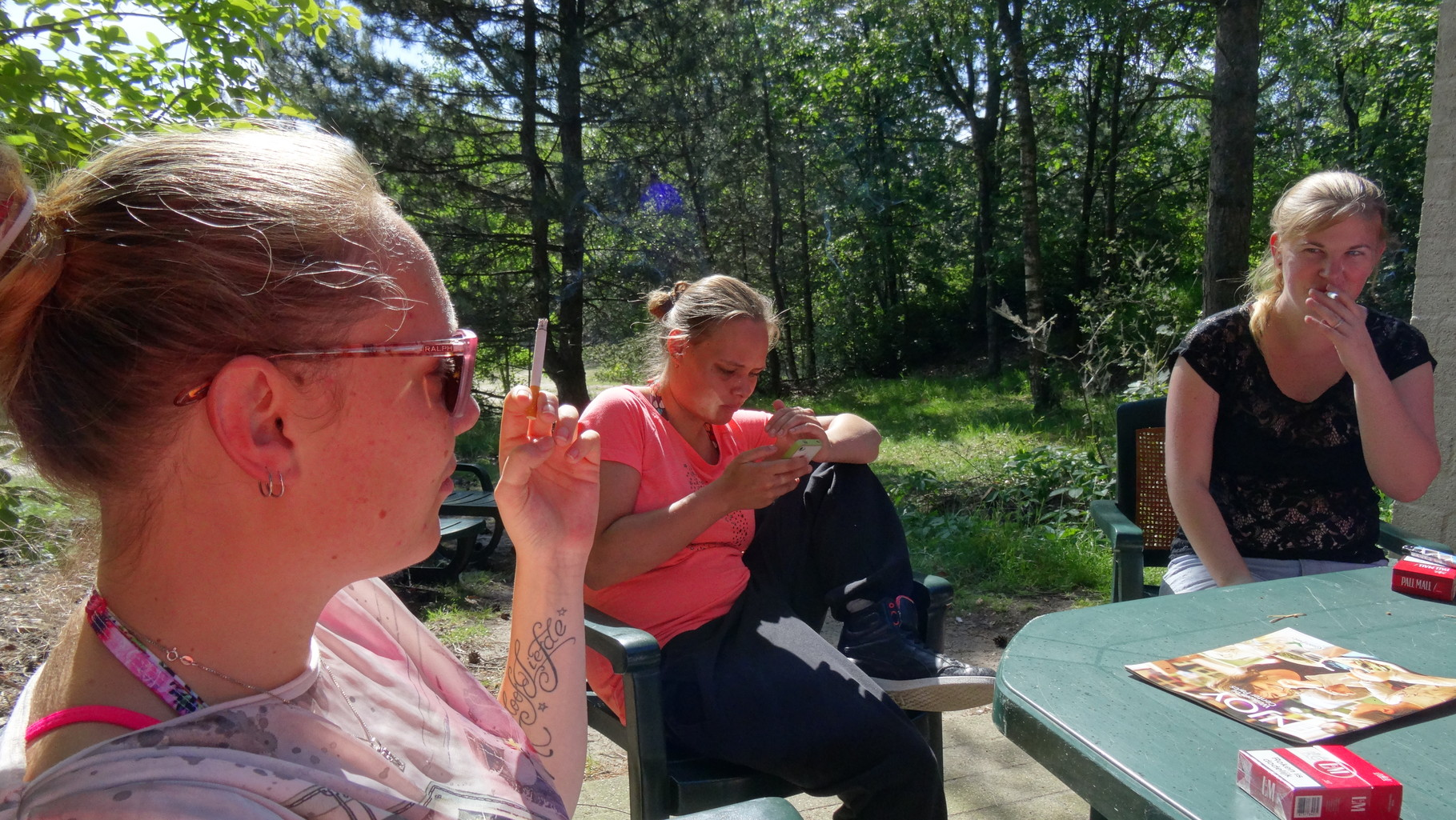 Kirsten, Suzanne en Evy