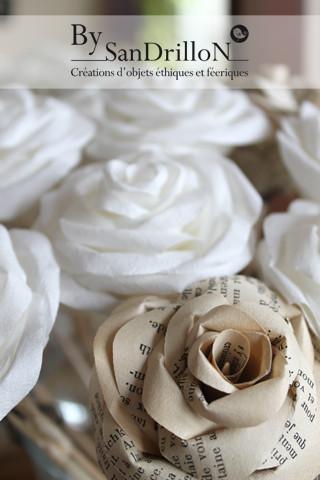 Roses en papier. Tous droits réservés.