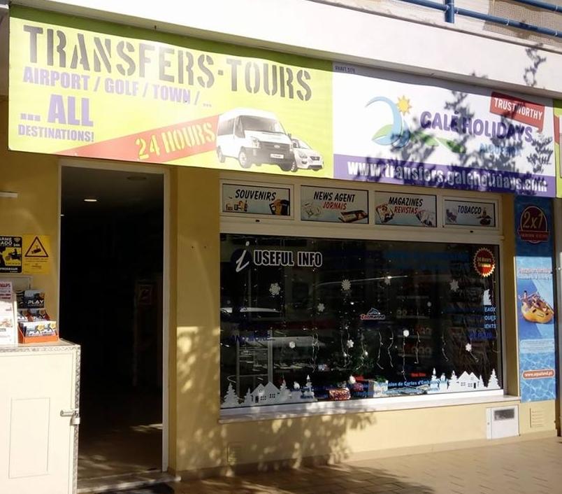 Galé Holidays Transfer in Galé,Albufeira,Algarve,Portugal mit Büro in Galé geeignet für Familien oder Privat.