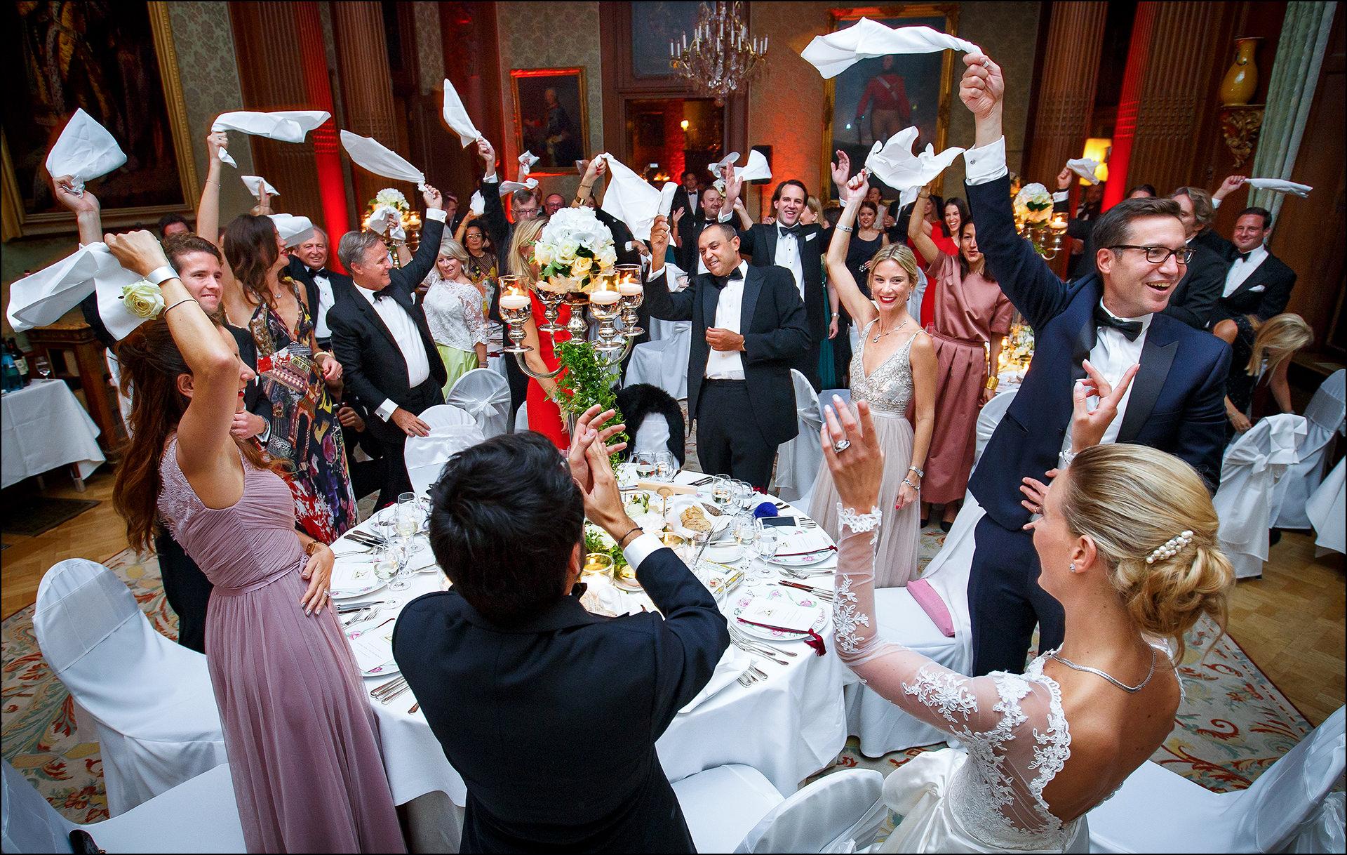 Hochzeitsparty Schlosshotel Kronberg