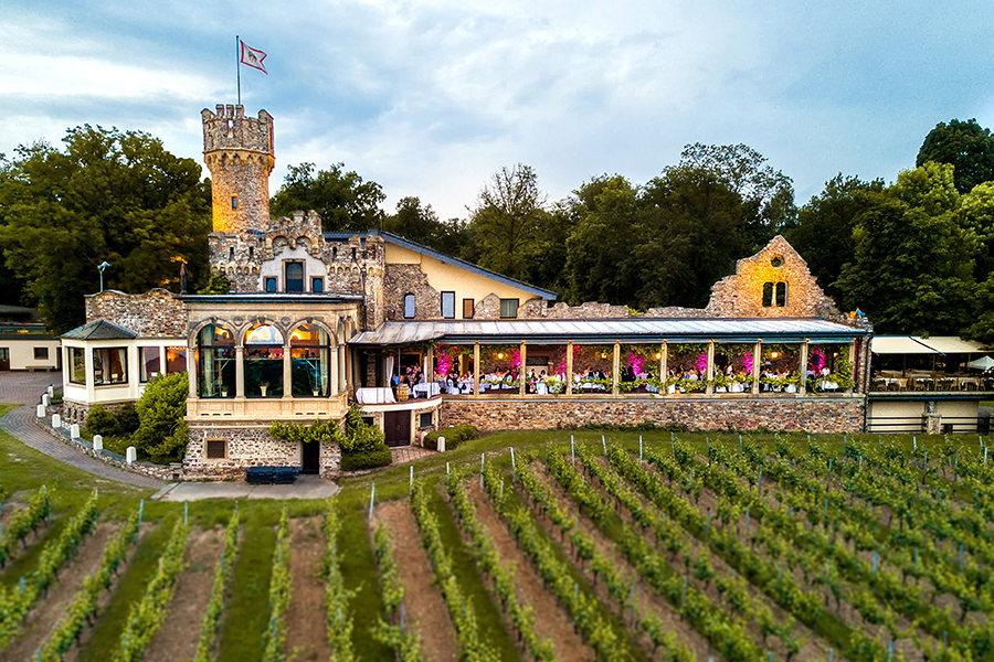 Burgterrasse Burg Schwarzenstein