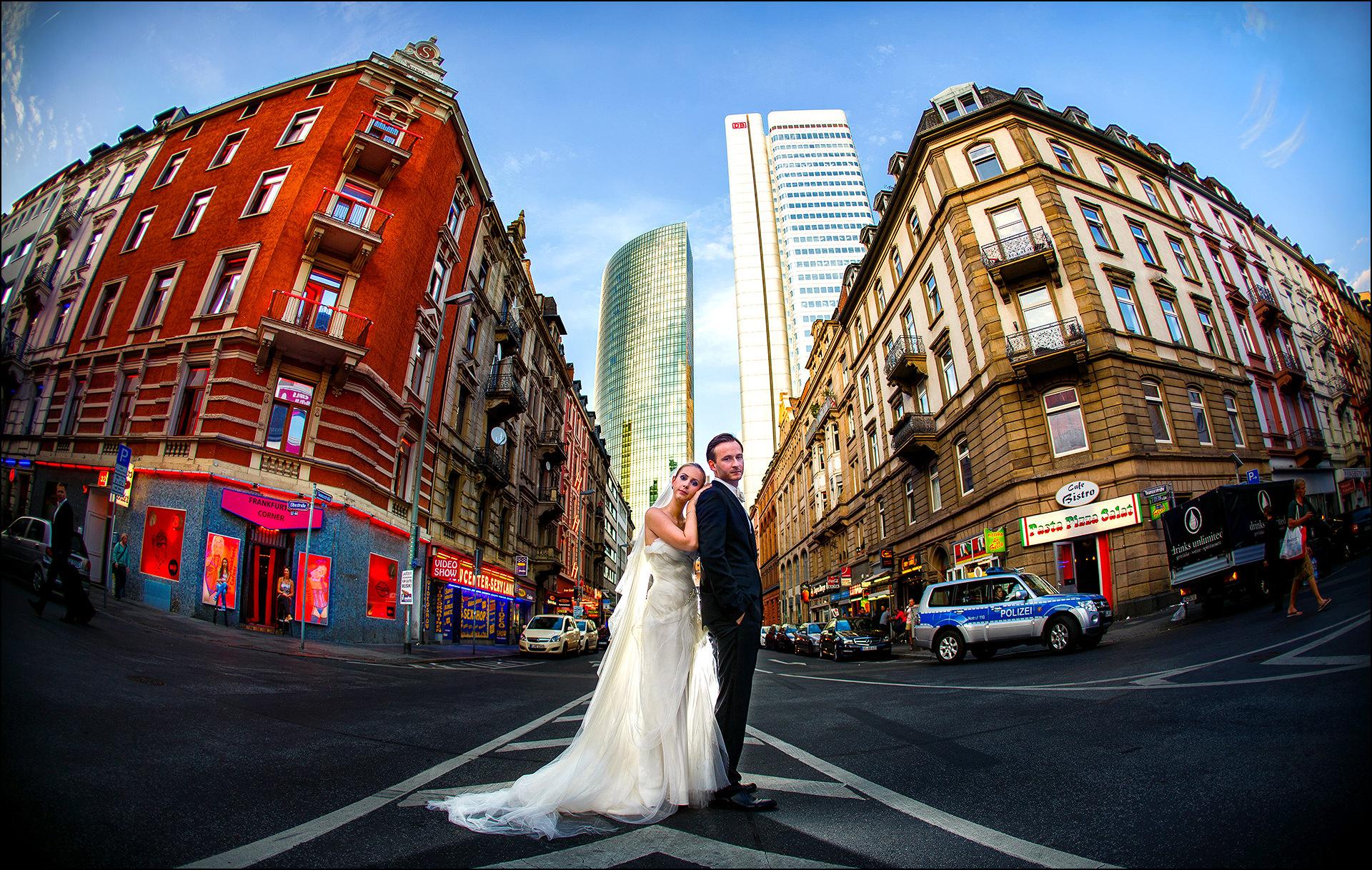 Kreatives Hochzeitsshooting in Frankfurt