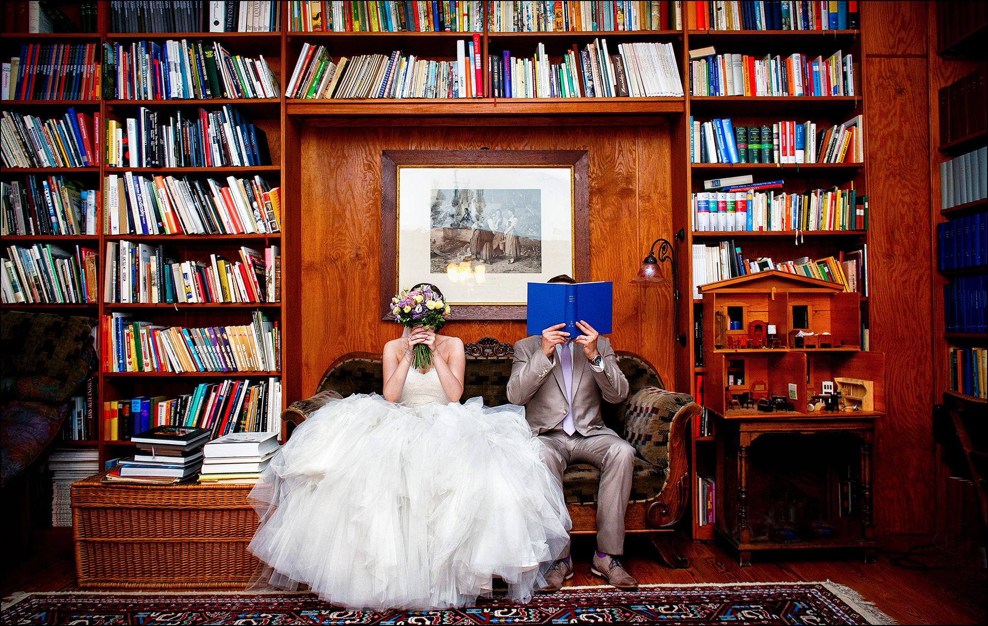 Kreative Brautpaarfotos