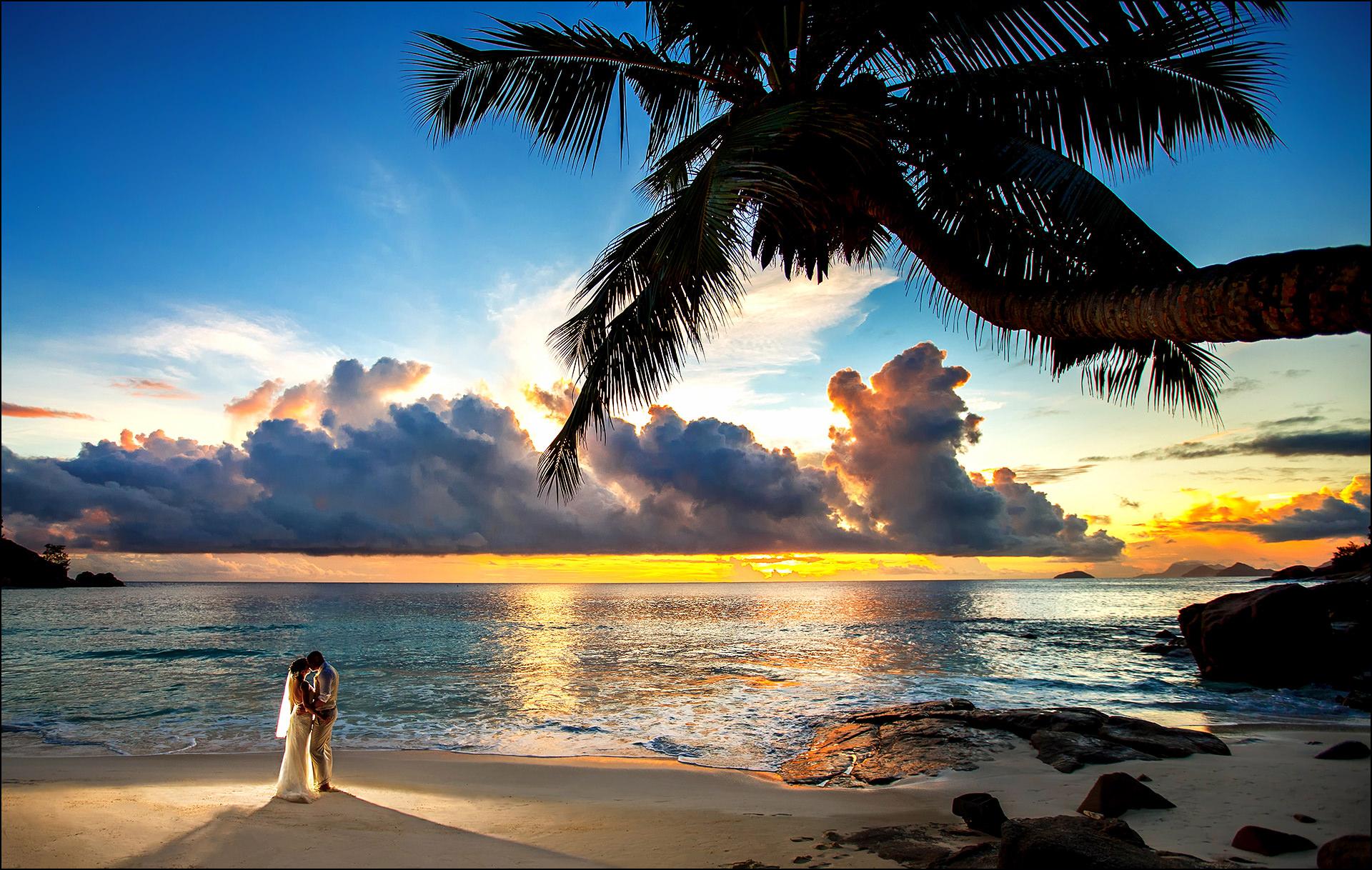 Kreative Hochzeitsfotos Seychellen
