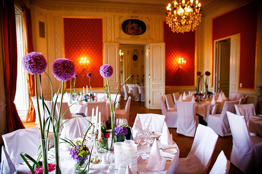 Hochzeitsdekoration Villa Rothschild