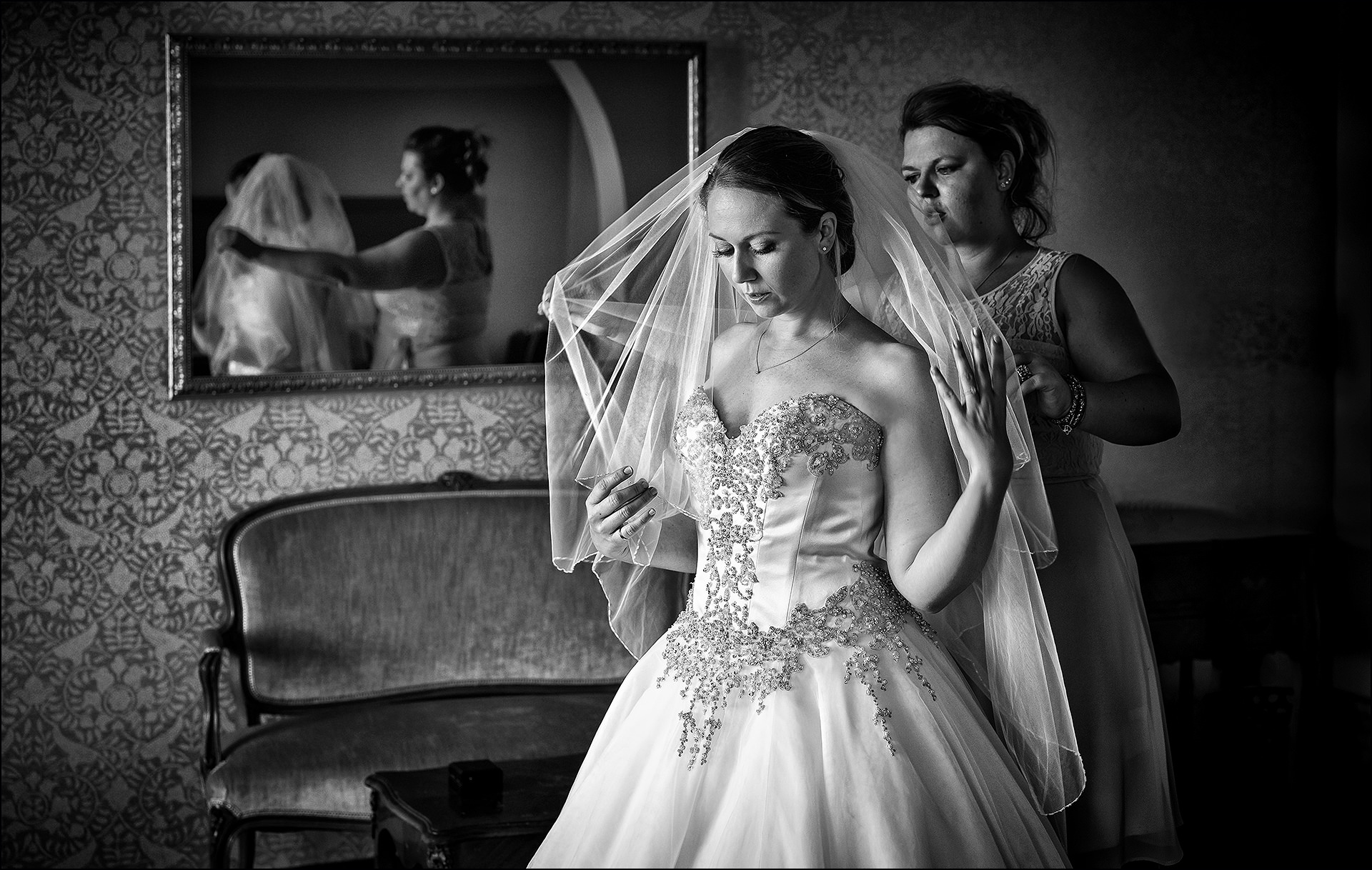 Hochzeitsvorbereitungen Schloss Freudental