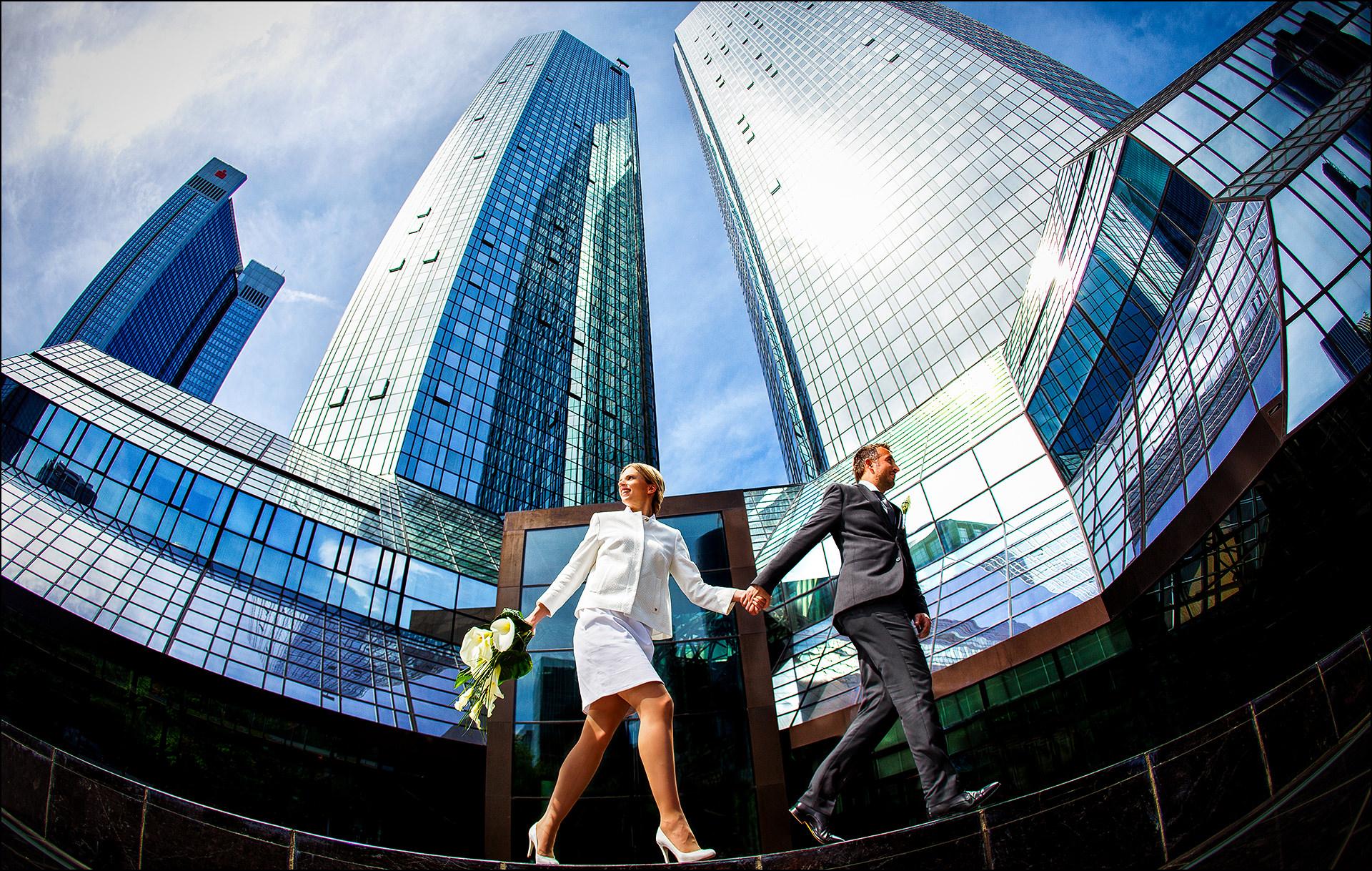 Stadtshooting Brautpaar Frankfurt