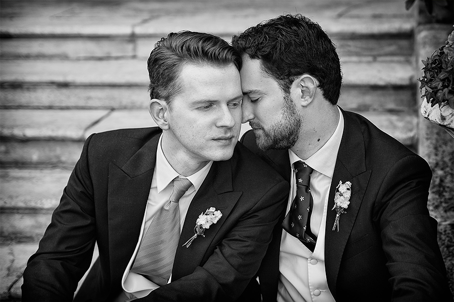 Schwules Hochzeitspaar Frankfurt