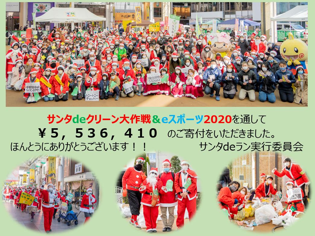 【速報!】サンタdeクリーン&eスポーツに¥5,536,410が集まりました!