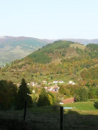 Vue sur le village de storckensohn