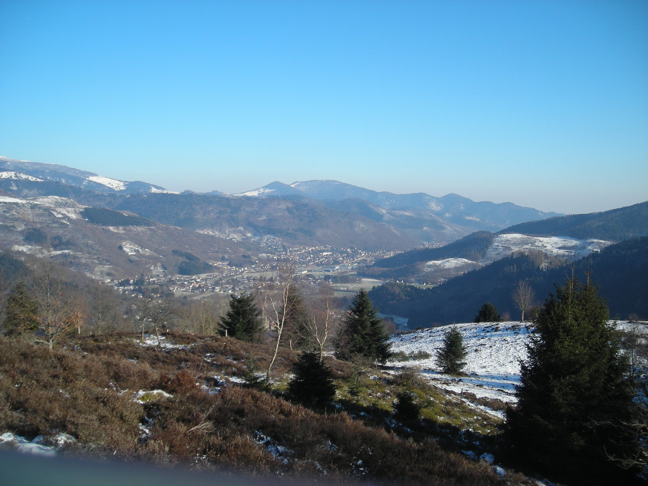 vue sur la vallée de la Thur