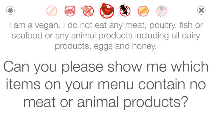 veganagogo app screen light