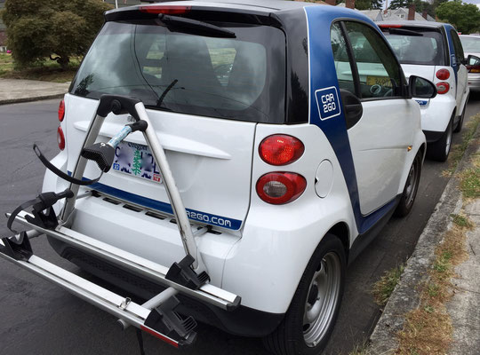car2go smart car bike rack