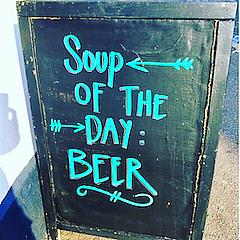 beer pub sign