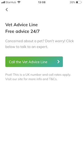 vet advice line trusted housesitters app