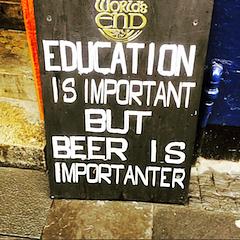 funny pub sign