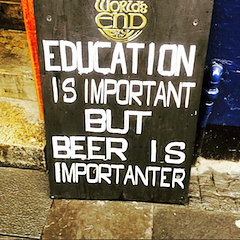 funny pub sign